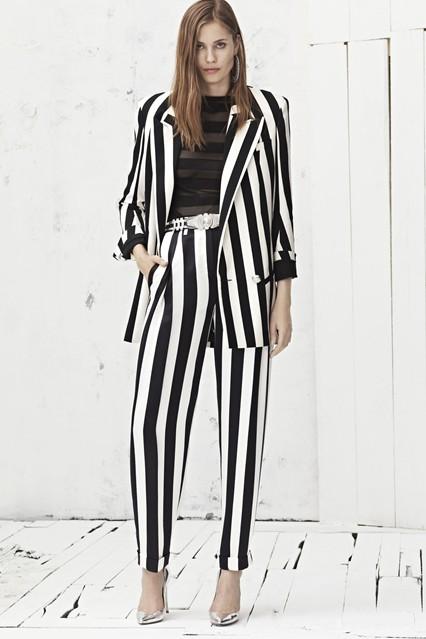 balmain suit stripe