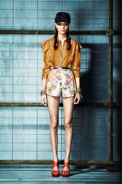 cavalli high waisted shorts