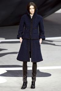 chanel navy tweed