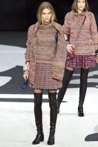 chanel tweed suit skirt