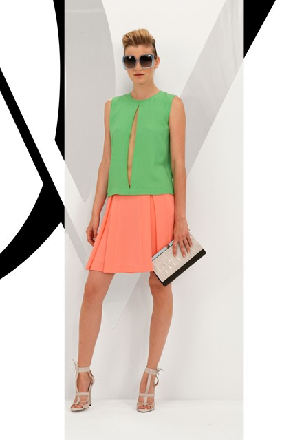 dvf colour blocking