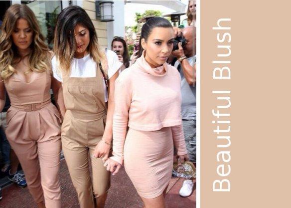 kardashians wearing blush